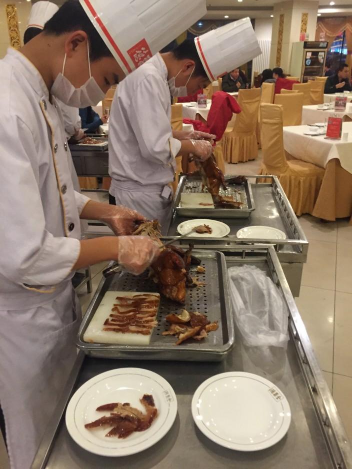 Recipes -- At Beijing most famous Beijing duck restaurant: Quan Jude, opened in 1864